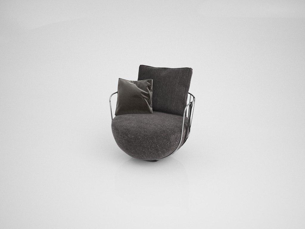 3D model trogir armchair