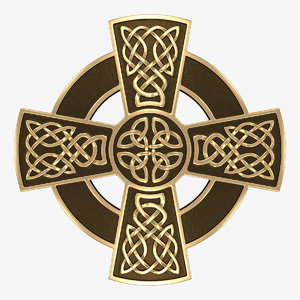 3D celtic cross model