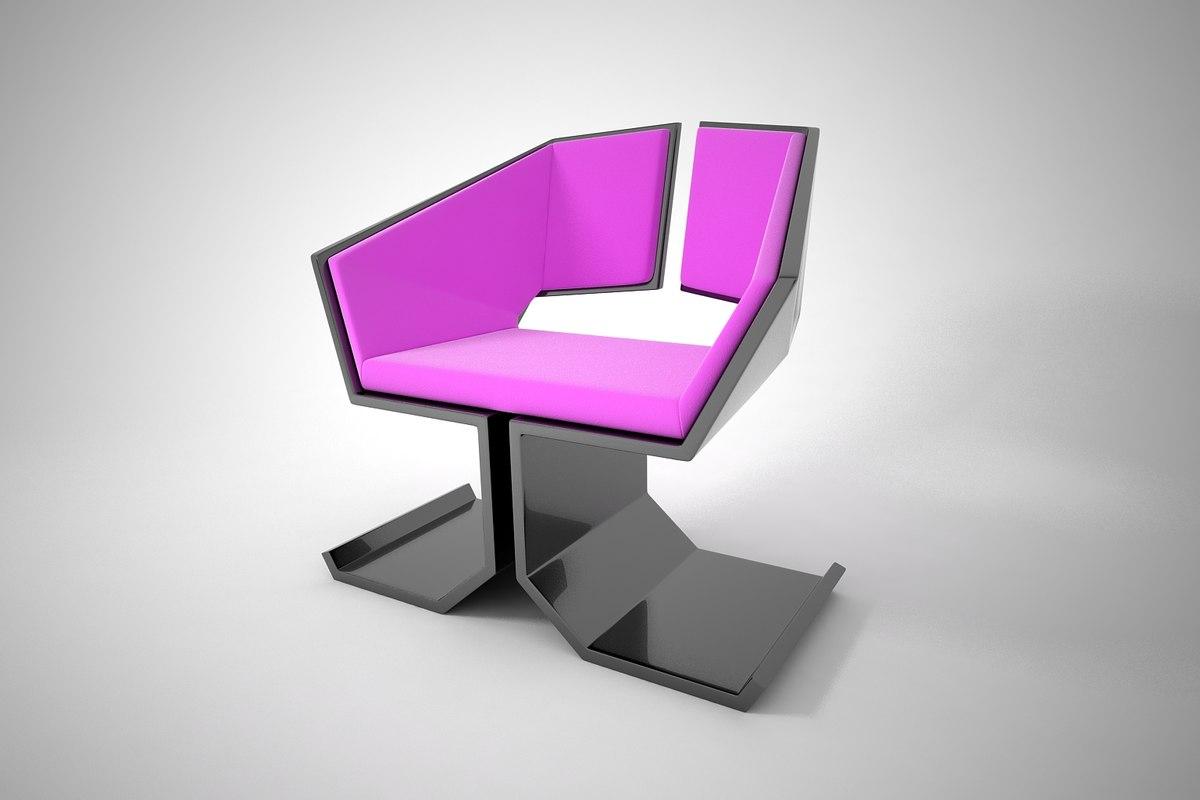 3D furnishings furniture chair model
