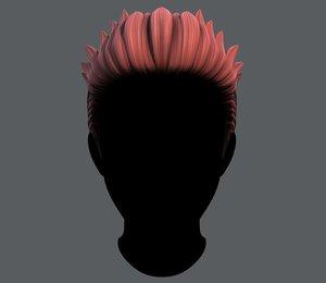 hair style man v05 3D model