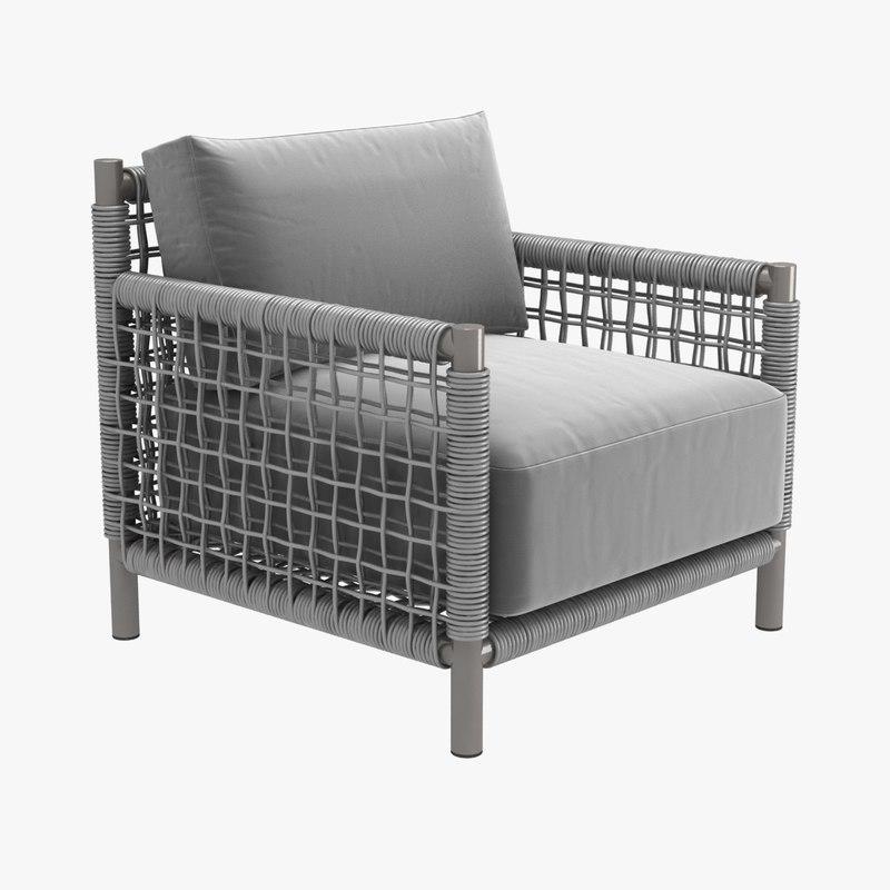 3D taos armchair