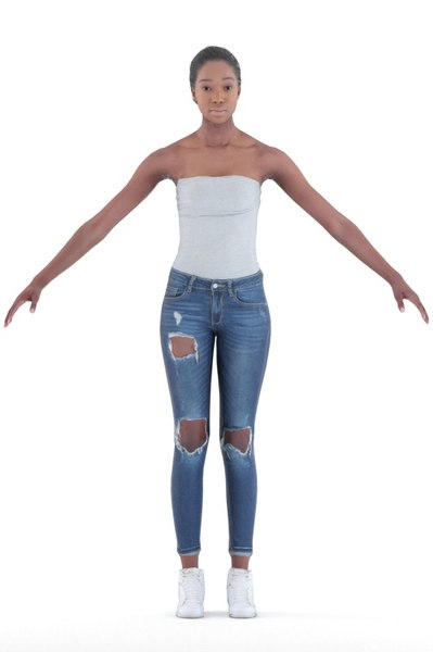 alison rigged people 3D model
