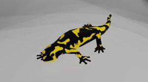 3D model tiger salamander