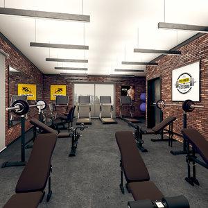 3D gym interior