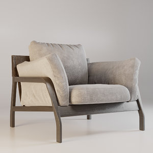 3D armchair cassina chair model
