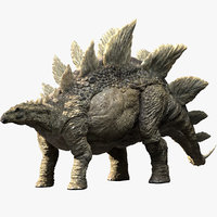 stegosaurus rigged stego 3D model