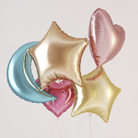 Colorful foil helium balloons