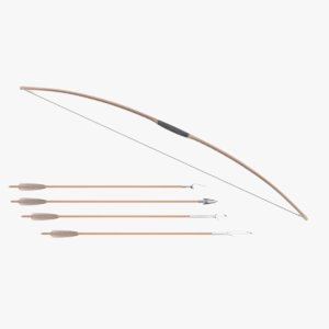 bow arrows 3D model