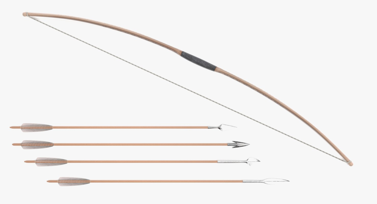 bow arrows 3D model