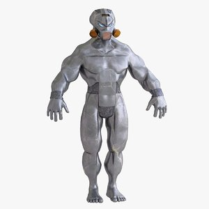 3D cyborg character