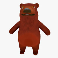 cartoon bear ar animation model