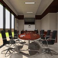 interior meeting room 3D model