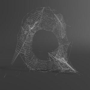 3D web letter q