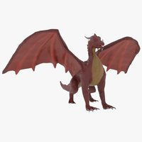 Cartoony red dragon