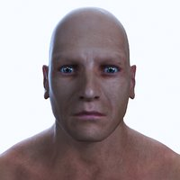 realistic male human body 3D model
