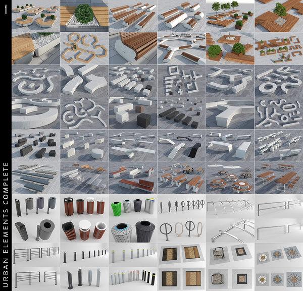 3D urban elements