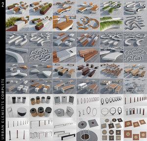 3D urban elements model