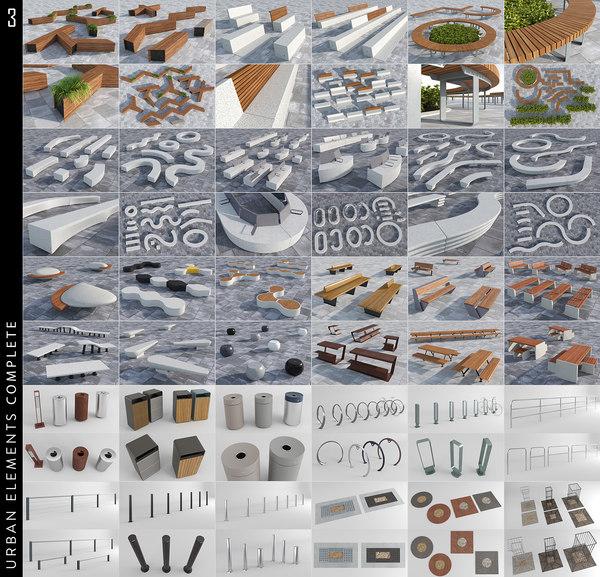 3D urban elements 3
