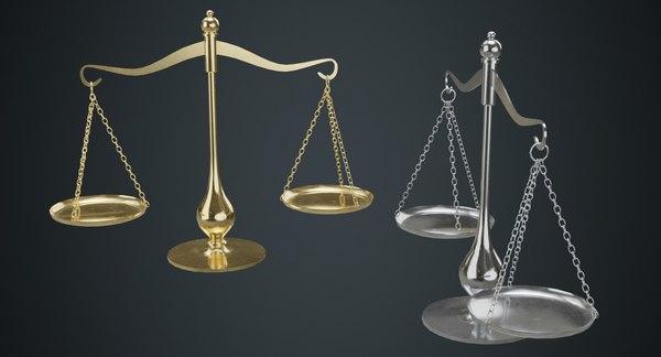 balance scale 1a 3D