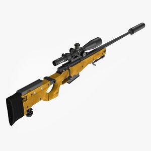 3D sniper rifle l115a3