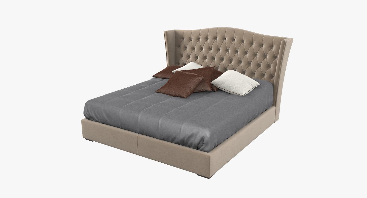 gold confort fashion bed 3D model