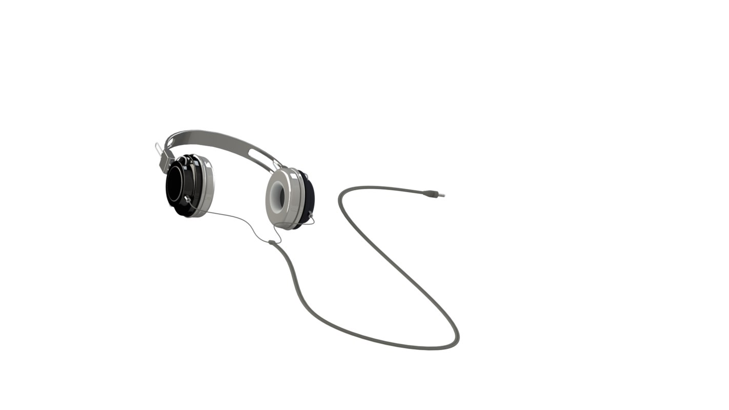 3D headphones model