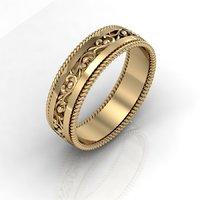3D fashionable wedding ring