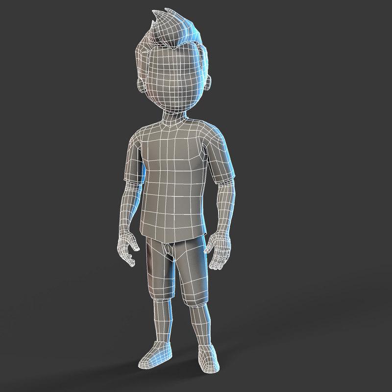 boy set l character 3D model