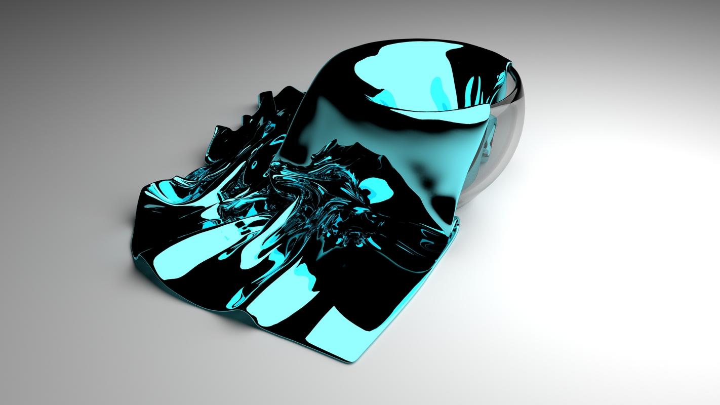 3D model glossy cloth napkin falling