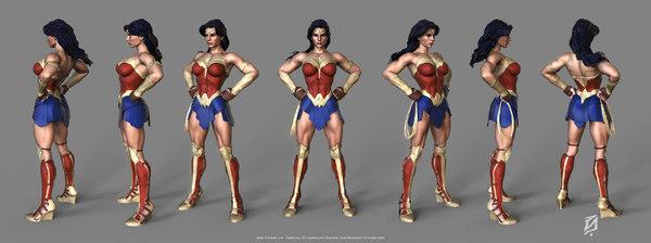 wonder woman toon 3D model