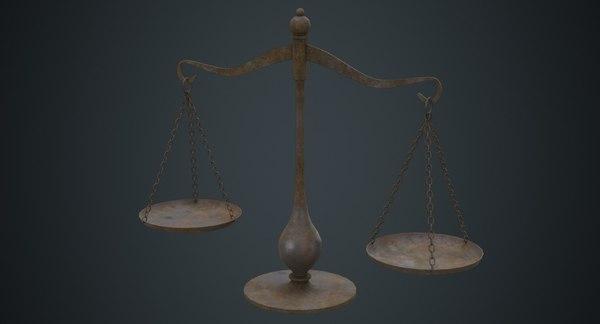 balance scale 1d 3D model