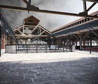 3D model tobacco dock london
