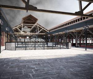 3D model tobacco dock london