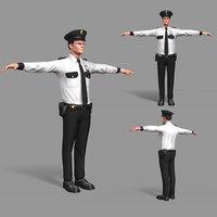 pbr police 3D