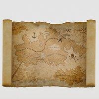 treasure maps chest model