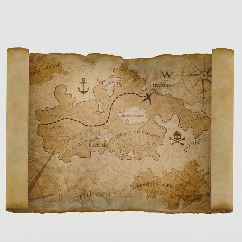 treasure maps chest model