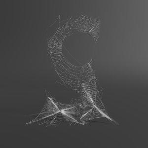 web letter s 3D model