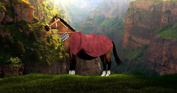 3D model warrior horse