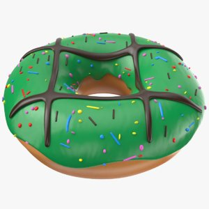 3D donut modeled model