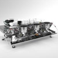 Kees van der Westen Coffee Machine Spirit St Steel 3 group