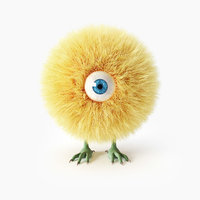 chicken hair fur 3D model
