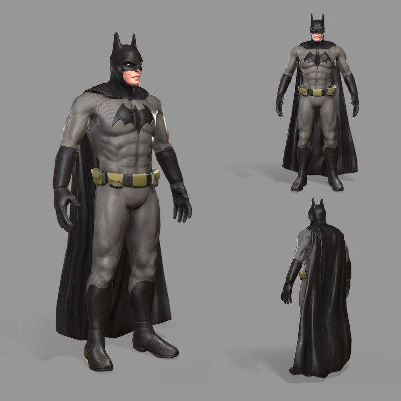 3D hero bat batman model