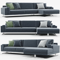 3D doimo salotti york sofa model
