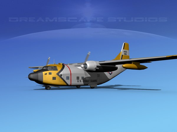 3D aircraft military hc-123b provider model