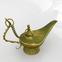 3D aladdin magic lamp