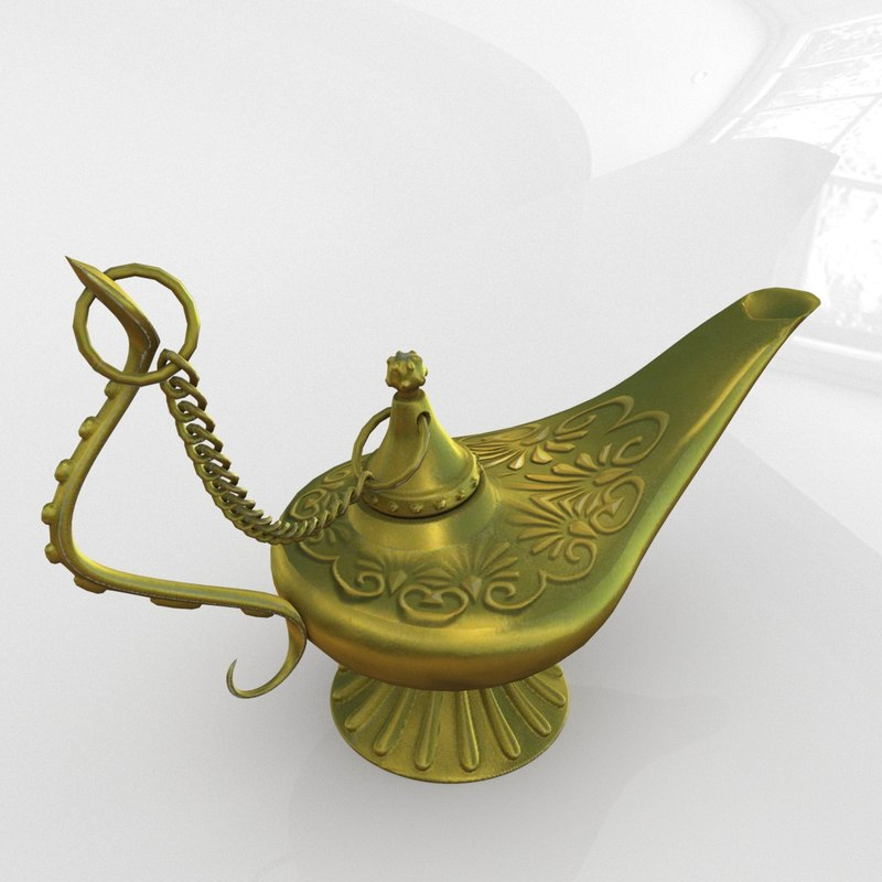 3D aladdin magic lamp