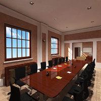 3D meeting room