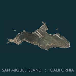 3D model san miguel island terrain