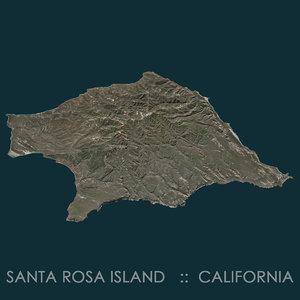 3D santa rosa island terrain