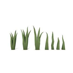 3D grass plant nature